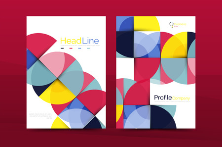issue: Geometric design, business annual report a4 brochure template