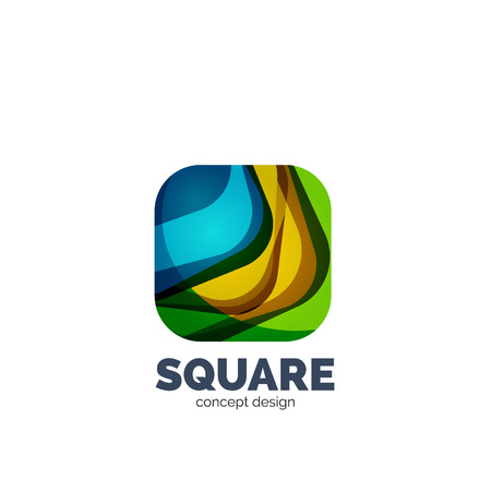 profesional: Vector abstract square, business icon