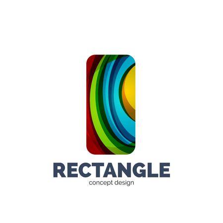 rectangle: Vector rectangle, business icon