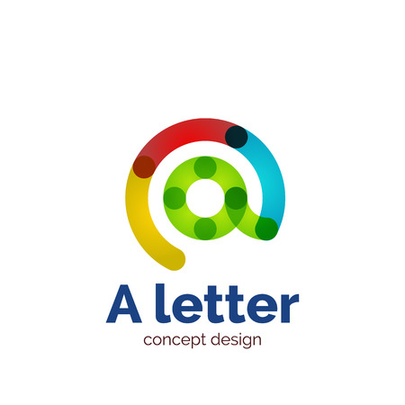 Vector modern minimalistic letter concept  template, abstract business icon