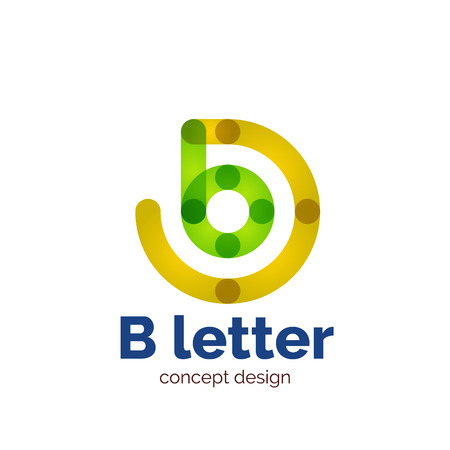 minimalistic: Vector modern minimalistic letter concept  template, abstract business icon