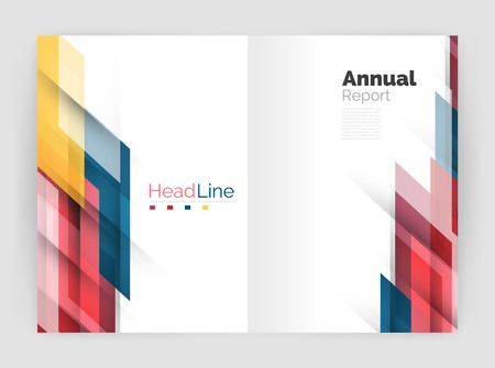 lineas rectas: Set of business straight lines abstract backgrounds. Vector illustration