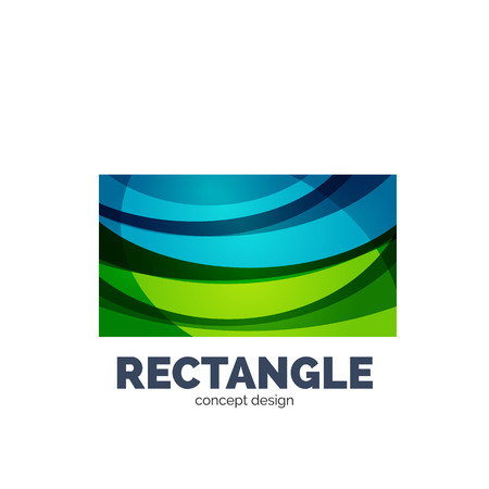 rectangle: Vector rectangle   abstract template