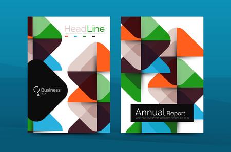 Business company profile brochure template, vector corporate brochure design
