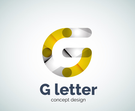 G letter logo icon. Business geometric abstract element Illustration