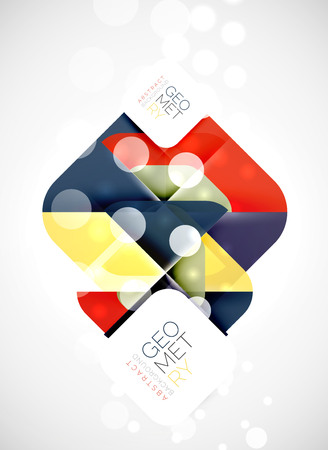 Modern square abstract background, vector color banner Illustration