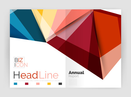 a4 borders: Geometric business annual report abstract backgrounds