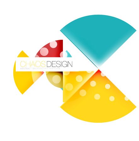 ellipse: Round shape elements composition. Abstract vector background Vectores