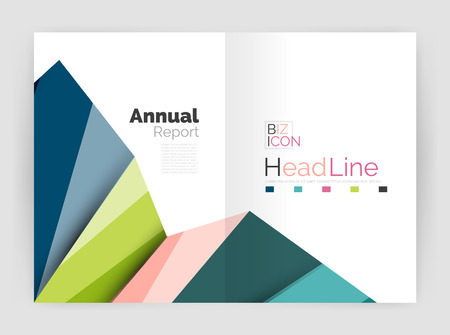 building planners: Business abstract geometric financial report brochure template. Vector