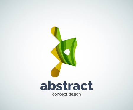 Vector abstruse shape template, abstract business icon