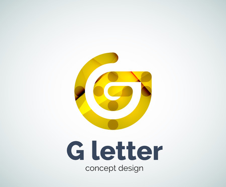 G letter   icon. Business geometric abstract element Illustration