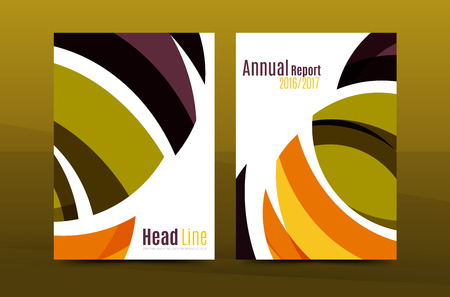 Abstract business annual report brochure cover, wave pattern. Vector illustration Illustration