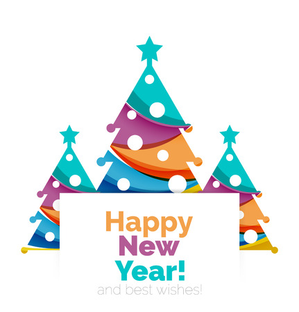chrismas card: Happy New Year and Chrismas holiday greeting card elements. Geometric banner Illustration