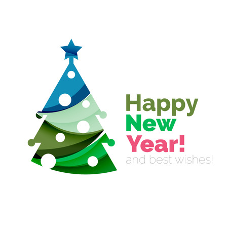 newyear: 2017 Christmas and New Year Geometric Banner with white space for text. Greeting card element
