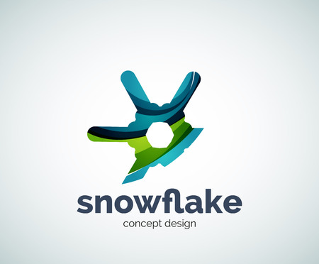 christmas concept: Vector Christmas snowflake   template, abstract business icon