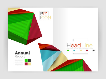 prospectus: Low poly annual report template
