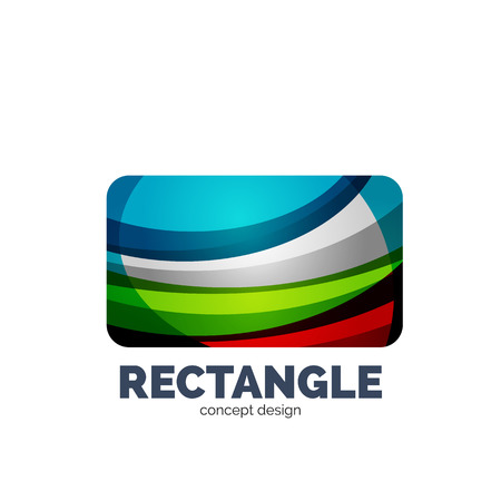 convergence: Vector rectangle abstract template