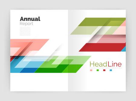 lineas rectas: Conjunto de negocios líneas rectas fondos abstractos. ilustración vectorial
