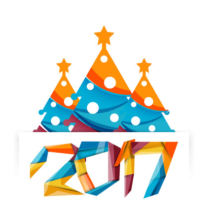 happy new year and chrismas holiday greeting card elements geometric banner stock vector 64437220
