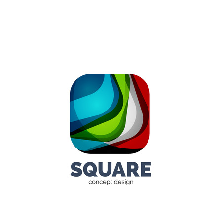 profesional: Vector abstract square  business icon Illustration