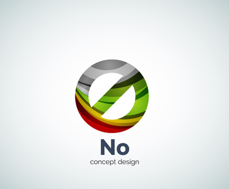prohibit: Vector no concept, prohibition  template, abstract business icon Illustration