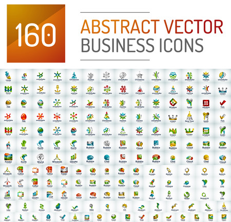 health icons: Abstract vector business  mega collection, universal set Illustration