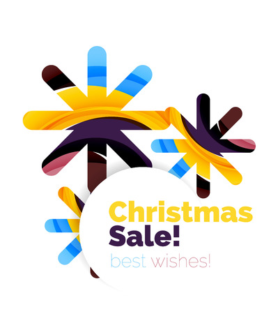 christmas and new year sale banner vector illustration stock vector 64539588