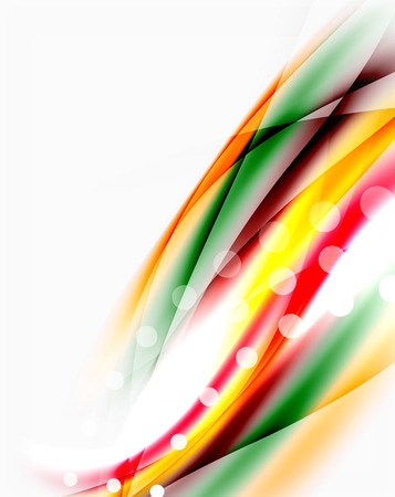 Abstract background, colorful shiny blurred lines with light effects Illustration