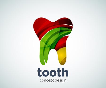 dientes sanos: plantilla vector diente, icono de los negocios resumen