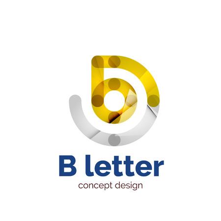 Vector modern minimalistic letter concept