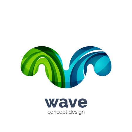 unusual: Unusual abstract business vector   template - wave
