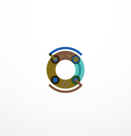 Line letter design. Logo concept Illustration