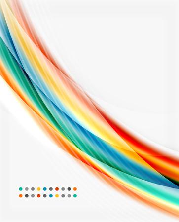 translucent: Glossy translucent wave vector template, line pattern Illustration