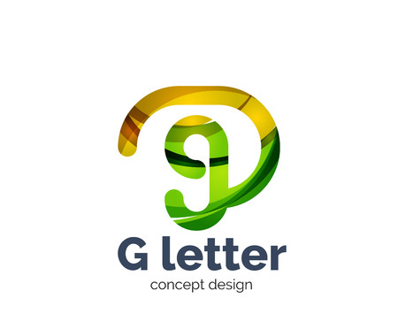 multiplicar: G letter icon. Business geometric abstract element
