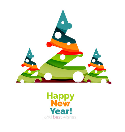 Christmas and New Year sale banner. Vector illustration Illustration