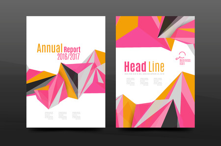 3d triangle: 3d triangle shapes. Business annual report cover. A4 size presentation flyer or corporate correspondence report