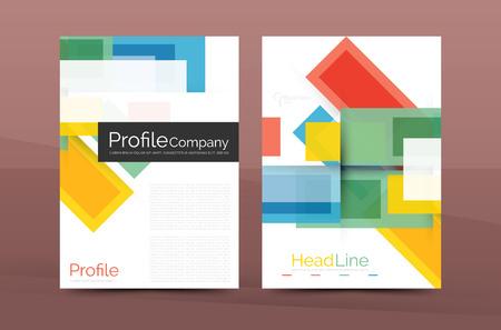 Straight lines geometric business report templates. Vector abstract background set Vektoros illusztráció