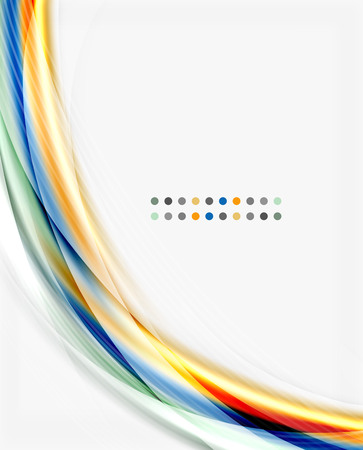 gray dot: Colorful modern wave line, business abstract layout or flyer Illustration
