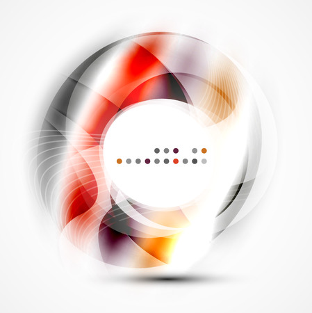Colorful abstract circle banner, vector message presentation template