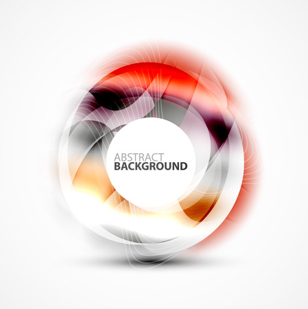 vector message: Colorful abstract circle banner, vector message presentation template