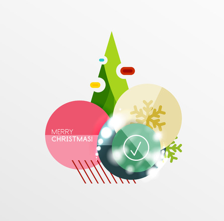 Vector Christmas Sale Paper Stickers Illustration