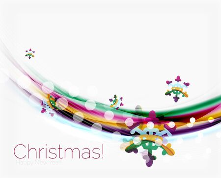 anniversary sale: Christmas and New Year business wave vector template