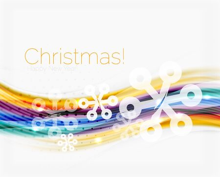 Christmas and New Year business wave vector template
