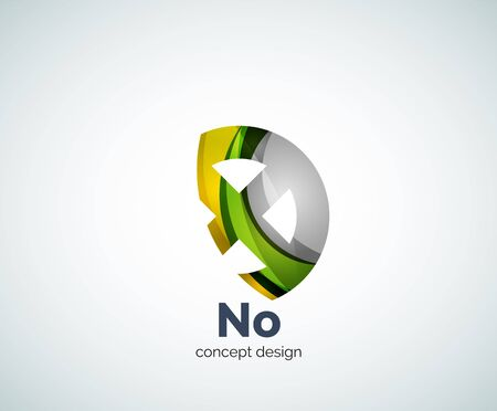 cancellation: Vector cross template, abstract business icon Illustration