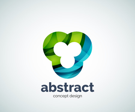 abstruse: Vector abstruse shape   template, abstract business icon Illustration