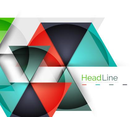 Moderna triangolo astratto aziendale