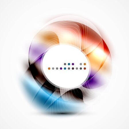 cold fusion: Vector abstract blurred swirl with space for text Illustration