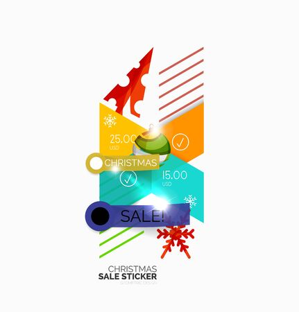 retailer: Vector Christmas sale stickers and labels