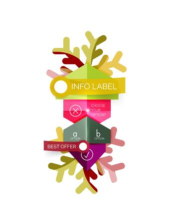 clothe: Christmas sale info banner, holiday greeting card or promo brochure elements