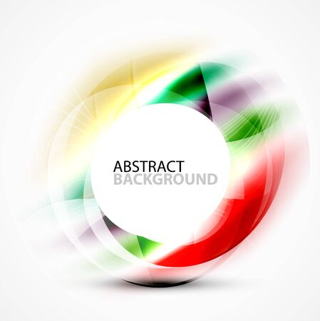 Vector abstract blurred swirl with space for text Illustration